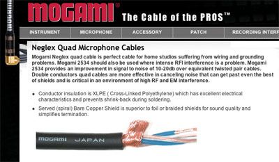 mogami-cable